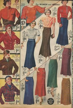 This #catalogsunday it's separates from the 1930s. #newvintagelady