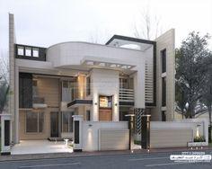 modern house House Front Design, Modern House Design, Modern Mansion, Duplex, House Elevation, Home Room Design, Modern House Plans, Exterior Design, Modern Architecture
