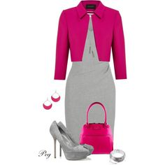 Business Outfits - Pink and Grey