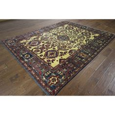 Manhattan Hand-knotted Oriental and Blue on Super Kazak Area Rug