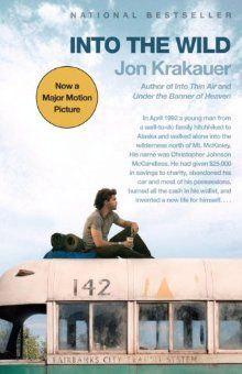 True story of a college graduate giving all his money to charity, abandoning his car and most of his possessions, hitch hiking and becoming a vagabond on his way to live alone in the Alaskan wilderness. Reallly good book, and movie.