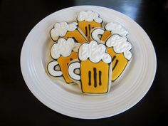 beer mug cookies using a baseball mitt cutter