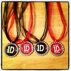 1D One Direction Party Favor Necklaces-Set of 6. $12.00, via Etsy.