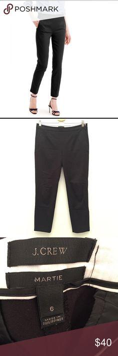 "J. Crew Martie Pant in Black EUC 6 Excellent Condition! Size:6 waist:16"" Inseam:28"" Side zip. J. Crew Pants Ankle & Cropped"