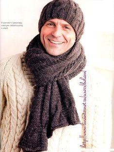 Мужские вязаные шарфы и шапки - Вяжем сети - ТВОРЧЕСТВО РУК - Каталог статей - ЛИНИИ ЖИЗНИ