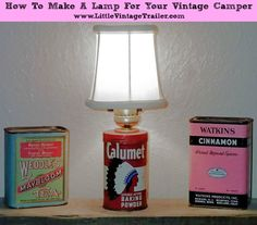 How to make lamp for your vintage camper