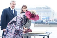 Queen Mathilde of Belgium and King Philippe of Belgium visit the Tomb of the Unknown Soldier as part of official Royal visit in Poland on October 13, 2015 in Warsaw, Poland.  (Photo by Adam Nurkiewicz/Getty Images)