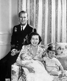 House of WindsorPrincess Anne's christening, 1950-Duke of Edinburgh, Princess Elizabeth, Anne, Charles