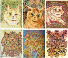 De Gatitos Inofensivos A Psicodélicos Seres  ¿Qué Le Pasó A Este Pintor? - #¡OMD!=OhMiDios=OhMyGod(perohablamosespañol)  http://www.vivavive.com/pinturas-de-gatitos-louiswain/