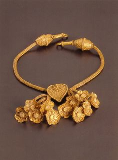 Necklace, gold, Greek 4th C BC
