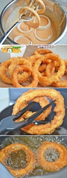 delicious easy snack and … – Recipes Easy Snacks, Easy Meals, Tasty, Yummy Food, Onion Rings, I Foods, Mexican Food Recipes, Love Food, Food Porn