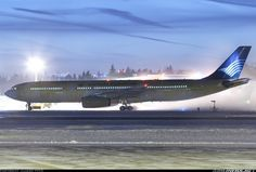 How about this IndonesiaGaruda A330 in Helsinki complete with de-icing fluid  pic.twitter.com/kRcRhiRQzN