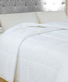 look at this zulilyfind white lightweight hospitality comforter set by natural comfort zulilyfinds - Royal Velvet Sheets