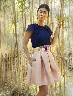 Top Leire azul perfil Arimoka