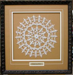framing doilies   Doily framed with a name plate. Great to ...   Framed Needle Craft I