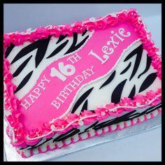 Hot Pink Zebra Print Cake cual quieres Pinterest Zebra