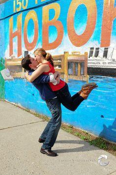 Cuppek Photography #engagement #hoboken #kiss