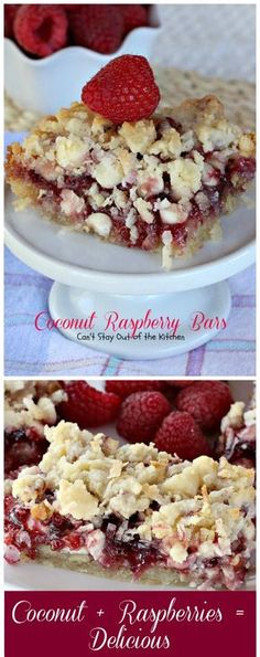 Coconut Raspberry Bars | Can't Stay Out of the Kitchen | these ooey, gooey #dessert bars are great for #holiday baking.