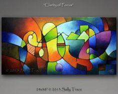Peinture abstraite peinture de paysage abstrait arbre de vie