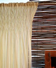 take a look at this natural sheer tea stain curtain panel by washboard home on