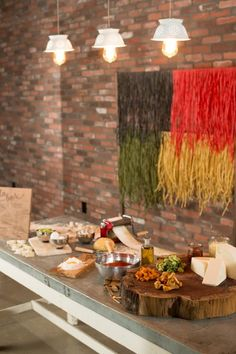 """Pasta-Bilities """"The Build-Your-Own-Pasta-Bar is an interactive foodie experience to indulge guests in an Italian feast.  Watch as master chefs roll out gourmet noodle flavors by hand and create your very own meal with a delectable array of toppings and sauces to satisfy any carb-o-licious craving."""""""