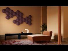 Bang & Olufsen's modular BeoSound Shape speakers are arranged like wall tiles