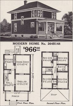 4 Square House Plans Fresh An American Foursquare Story The Plan, How To Plan, Square House Plans, House Floor Plans, Style At Home, Four Square Homes, Vintage House Plans, Hip Roof, Kit Homes