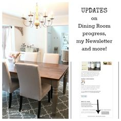Updates on Dining Room Progress, Newsletters and More! | So Much Better With Age
