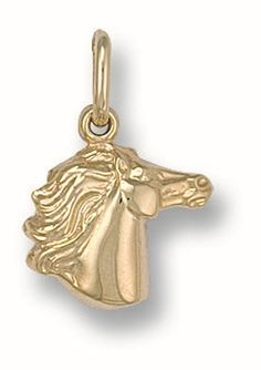 OphirJewellery - 9ct Yellow Gold Horse Head Charm / Pendant, £39.99 (http://www.ophirjewellery.co.uk/9ct-yellow-gold-horse-head-charm-pendant/)