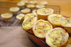 Brie and prosciutto mini quiche recipe....I really want to make these