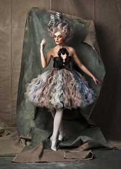 #rococco return mermaid madame wig galleon French ship big hair tulle petticoat fashion shoot paris model