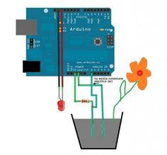 arduino project soil moisture sensor schematic