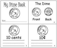 Set of 4 Readers to use when introducing coins!  My Penny Book  My Nickel Book  My Dime Book  My Quarter Book