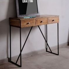 Beautiful Industrial Style Console Table   The Perfect Bedroom Accessory As Winter  Draws In. Craft Is