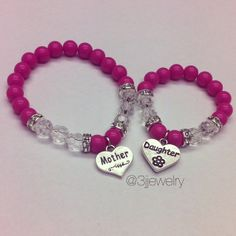 Mother Daughter Bracelet Set Mommy And Me By Threejjewelry 10 00 We Could Do This Ourselves
