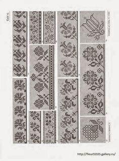 Παραδοσιακά σχέδια για σελιδοδείκτες / Traditional cross stitch patterns for bookmarks