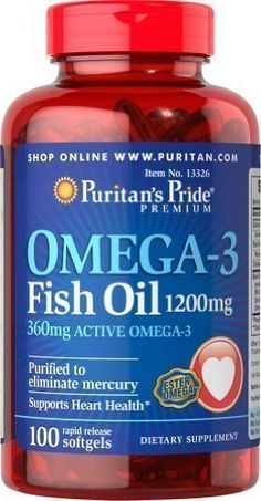 Omega-3 Fish Oil 1200 mg 100 Softgels * Find out more about the great product at the image link.