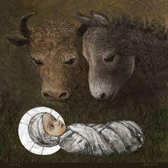 Baby Jesus, art by Vladimir Fokanov Religious Icons, Religious Art, Christmas Nativity, A Christmas Story, Merry Christmas, Religious Paintings, Jesus Art, Biblical Art, Catholic Art