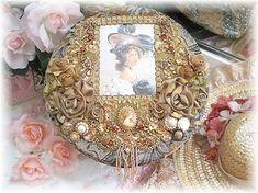 Decorative Beaded Boxes Wedding Keepsake Box Fabric Covered Gift ...