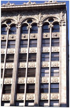 The Bayard-Condict Building at 65 Bleecker Street between Broadway and Lafayette Street, at the head of Crosby Street in the NoHo neighbourhood of Manhattan, New York City is the only work of architect Louis Sullivan in New York City