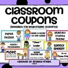 """Use these """"classroom coupons"""" as an alternative to expensive treasure box treats.  Children don't need costly rewards as motivators.  (Believe it o..."""