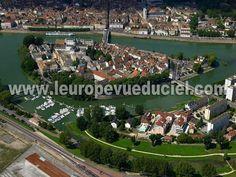 Photos aériennes de Chalon-sur-Saône (71100) - L'Ile Saint-Laurent | Saône-et-Loire, Bourgogne, France - Photo réf. T045446