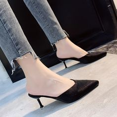 Buy, Casual Pointed Comfort Sole High Heel Women Summer Shoes are available at 4colordress.com! Now, $29.99 & Free Shipping. #Square #High #Heel #Open #Toe #Summer #Women #Shoes Womens Summer Shoes, Womens High Heels, Casual Sneakers, Casual Shoes, Fashion Heels, Pu Leather, Pumps, Autumn, Lady