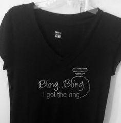 $22 cap sleeve V Neck!  Perfect for Bachelorette, Bridal Shower or Dress Shopping!  Available @ TShirtBlingByDesi on FB!  https://www.facebook.com/?ref=tn_tnmn#!/TShirtBlingByDesi