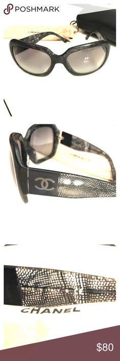 c30e387f6ecc Chanel Sunglasses style 5146 in blue lace Gently used Chanel Sunglasses  style  5146 in color