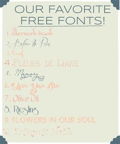 Our Favorite Free Fonts | Umba Box Loves