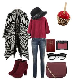 """""""cherry"""" by sanela-o on Polyvore featuring Accessorize, MICHAEL Michael Kors, Bebe, NARS Cosmetics and Sloane Stationery"""