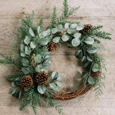 Bring an organic, informal look to your holiday decor with our Gloria Asymmetrical Wreath. This Magnolia exclusive features branches from both cedar and dogwood trees, as well as pine cones for a rich and varied texture. Christmas Door Wreaths, Noel Christmas, Holiday Wreaths, Christmas Crafts, Christmas Decorations, Holiday Decor, Xmas, Christmas Centerpieces, Christmas Ornaments