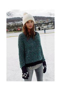 Ecote Stardust Open-Stitch Sweater