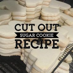 The perfect cut out sugar cookie recipe for getting crisp edges and cookies that don't spread!